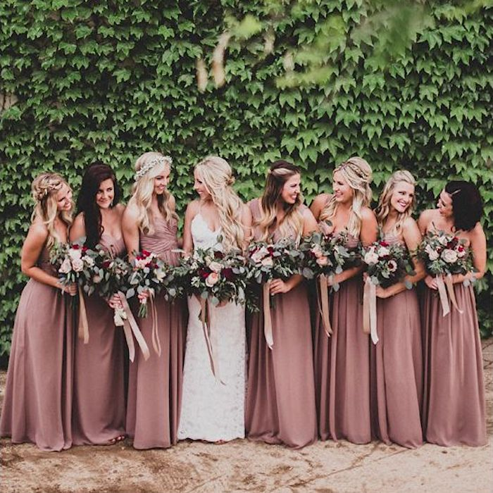 Beautiful bridesmaids hairstyles_half up half down 13