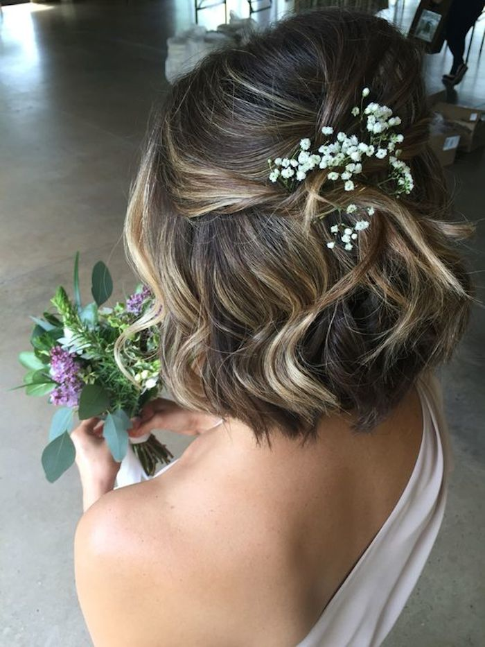 Beautiful bridesmaids hairstyles_half up half down 2