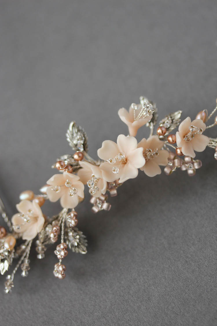 Bespoke for Jessica_silver blush bridal hair vine 5