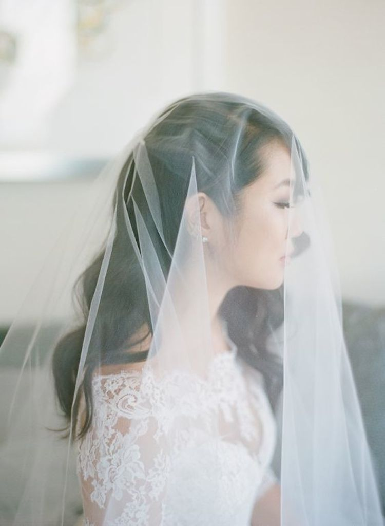 Our favourite wedding hairstyles with veils_half up hair with veil 4