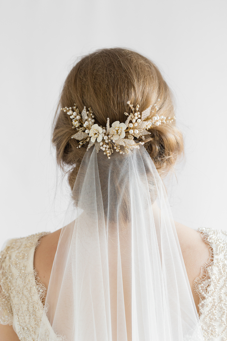 Our favourite wedding hairstyles with veils_wedding updos with veil 3