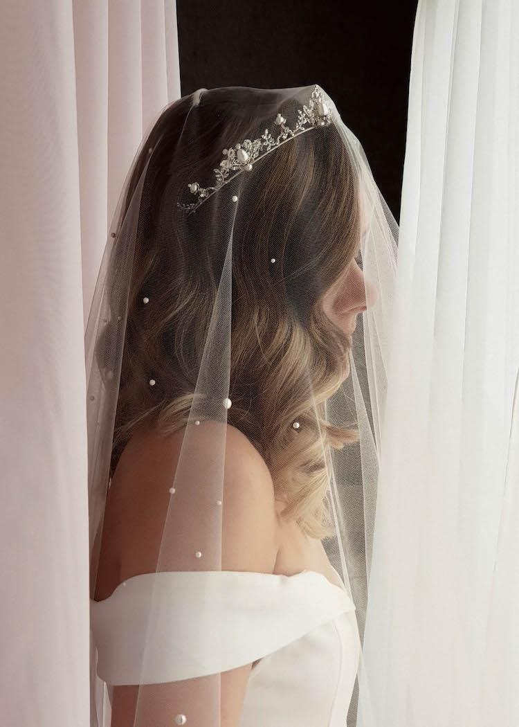 AGNES pearl wedding tiara 1