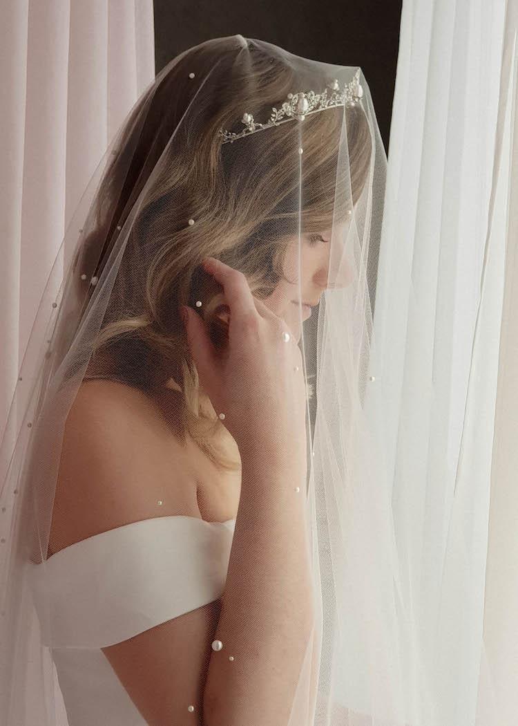 AGNES pearl wedding tiara 8