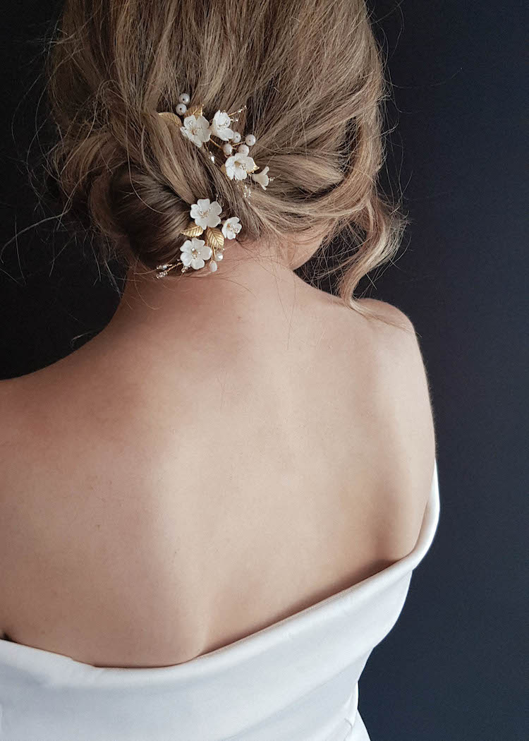 APPLE BLOSSOM bridal hair pieces 5