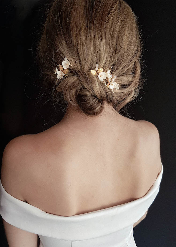 APPLE BLOSSOM bridal hair pieces