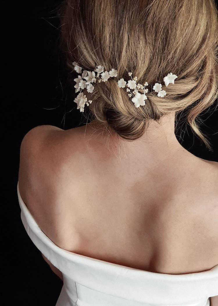 LAURETTE floral wedding hair pins 1