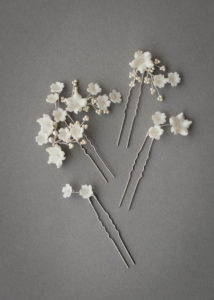 LAURETTE floral wedding hair pins 6