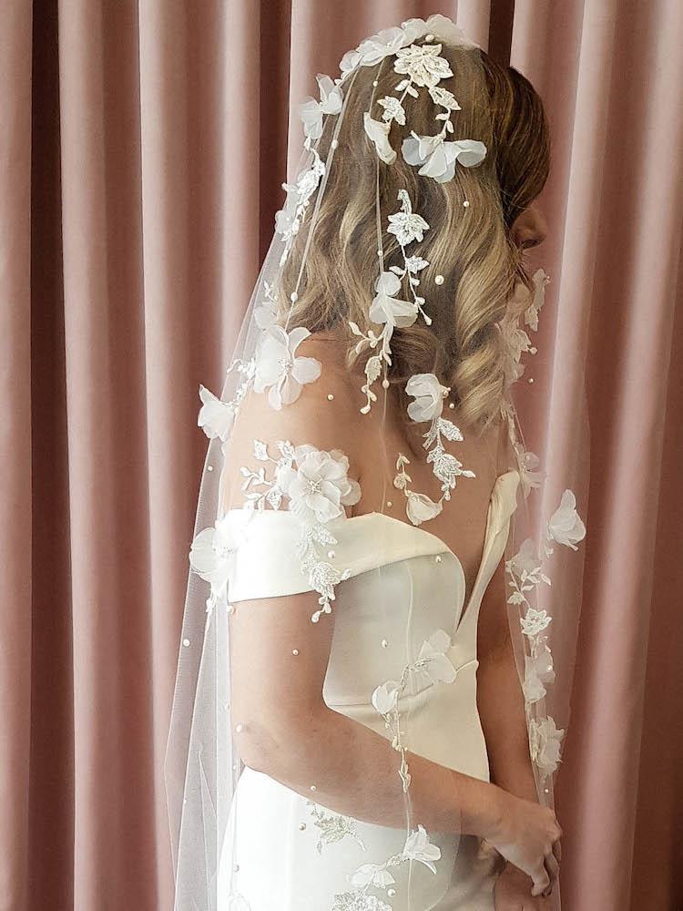 RIVIERA lace wedding veil 2