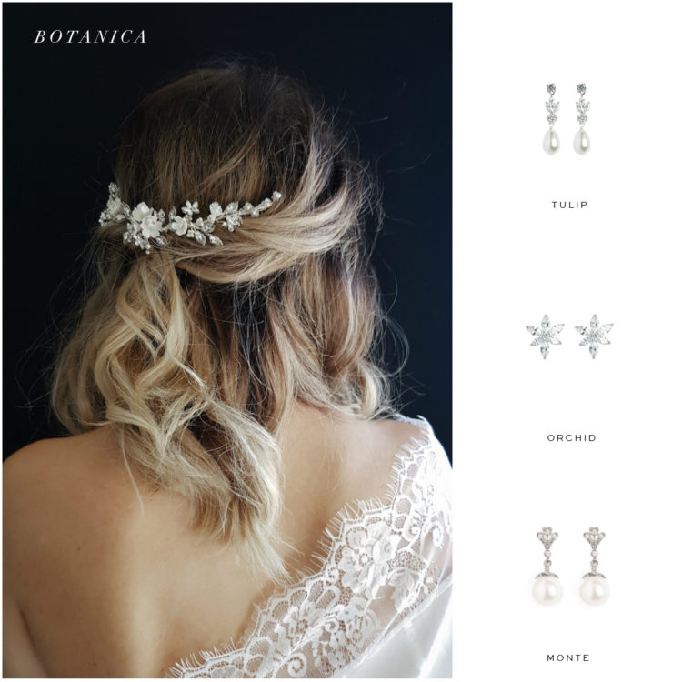 BOTANICA headpiece and earring suggestions