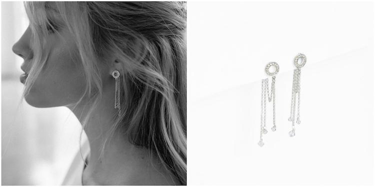 BREATHLESS silver chain earrings