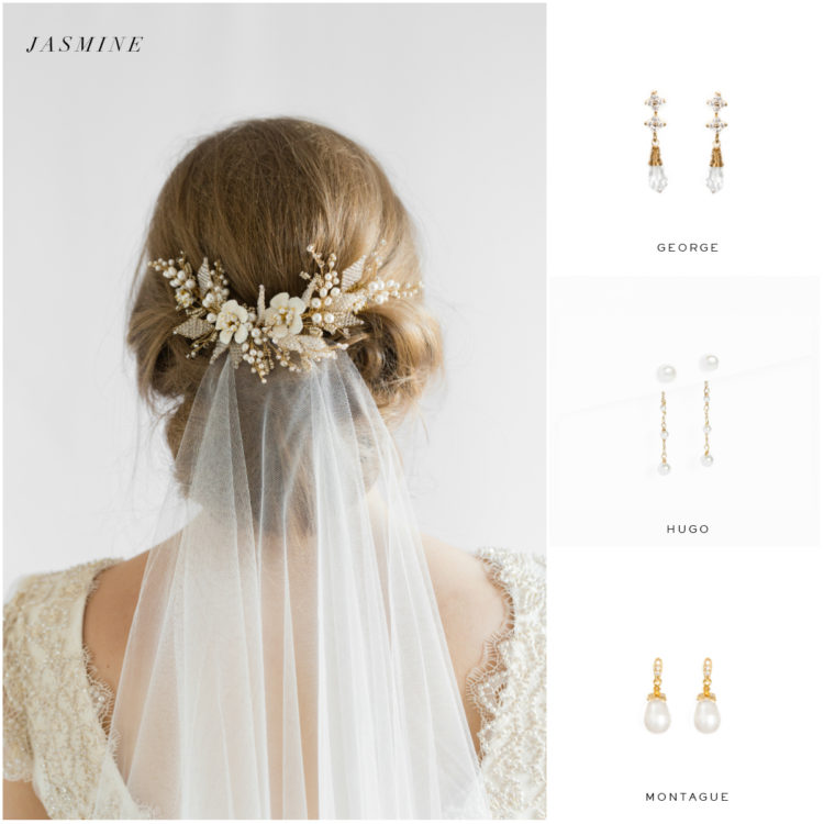 JASMINE headpiece and earring suggestions