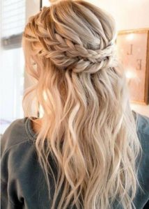 Beautiful braided wedding hairstyles_half up hairstyles 1