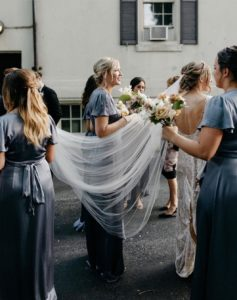 Bride Olivia wears Marais wedding veil