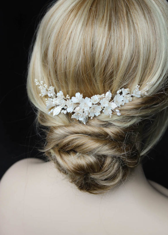 EMILIE floral bridal headpiece