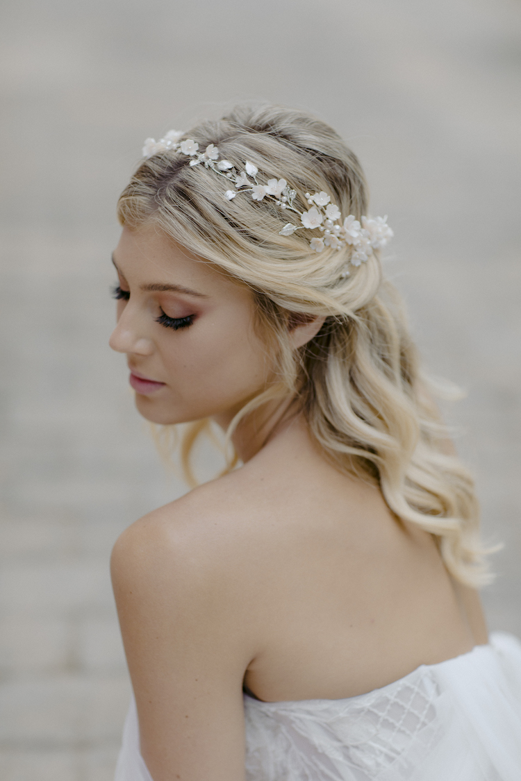 WILDERMERE champagne wedding headpiece 1