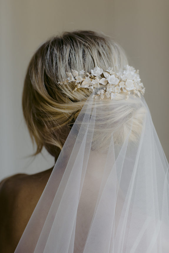BOUQUET gold bridal hair piece 8