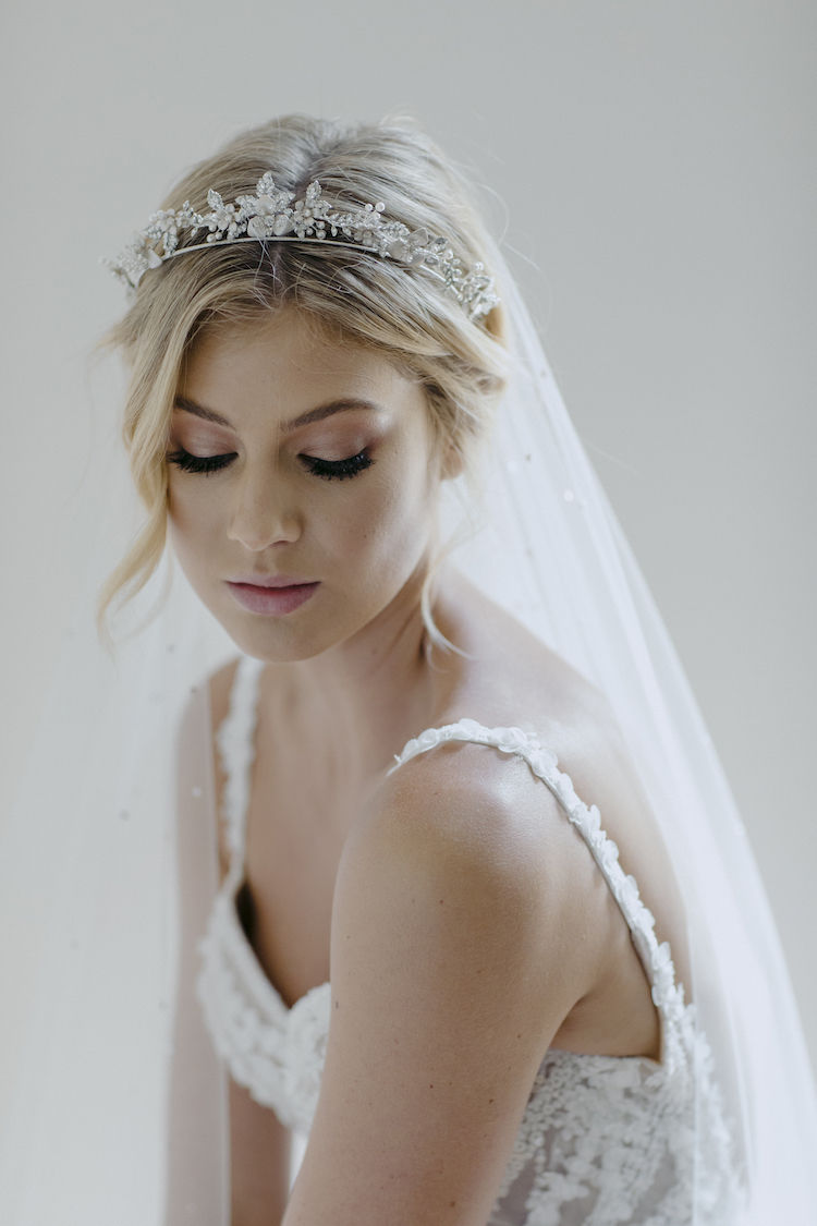 CASHMERE  crystal wedding tiara