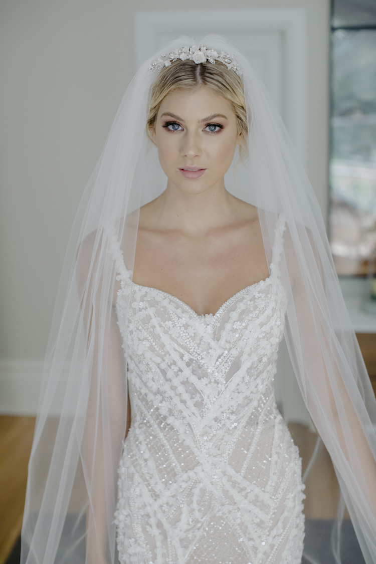 CLARABEL floral bridal tiara 1