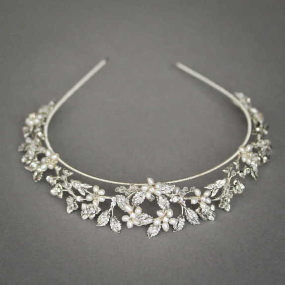 CRESCENT crystal bridal crown 7