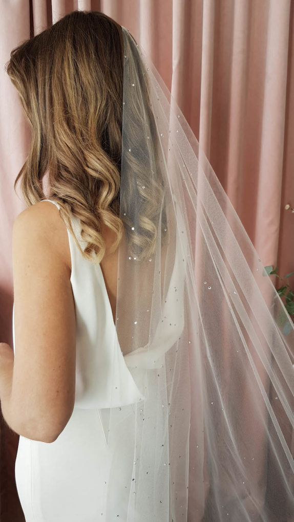 DEWBERRY crystal chapel wedding veil 9