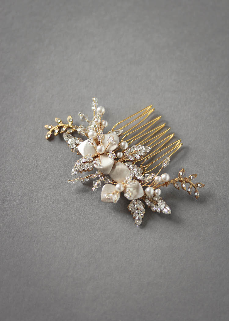 TROUSSEAU wedding hair comb 5