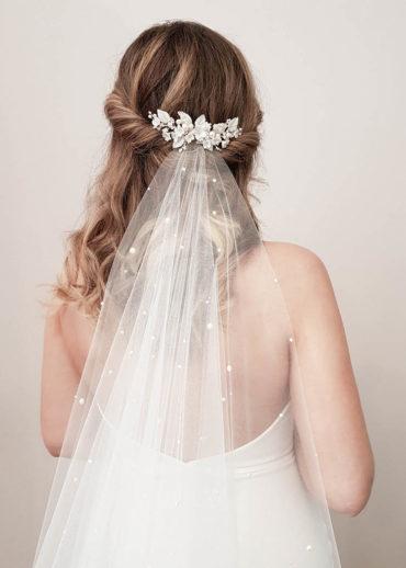 VERMONT floral bridal comb 1