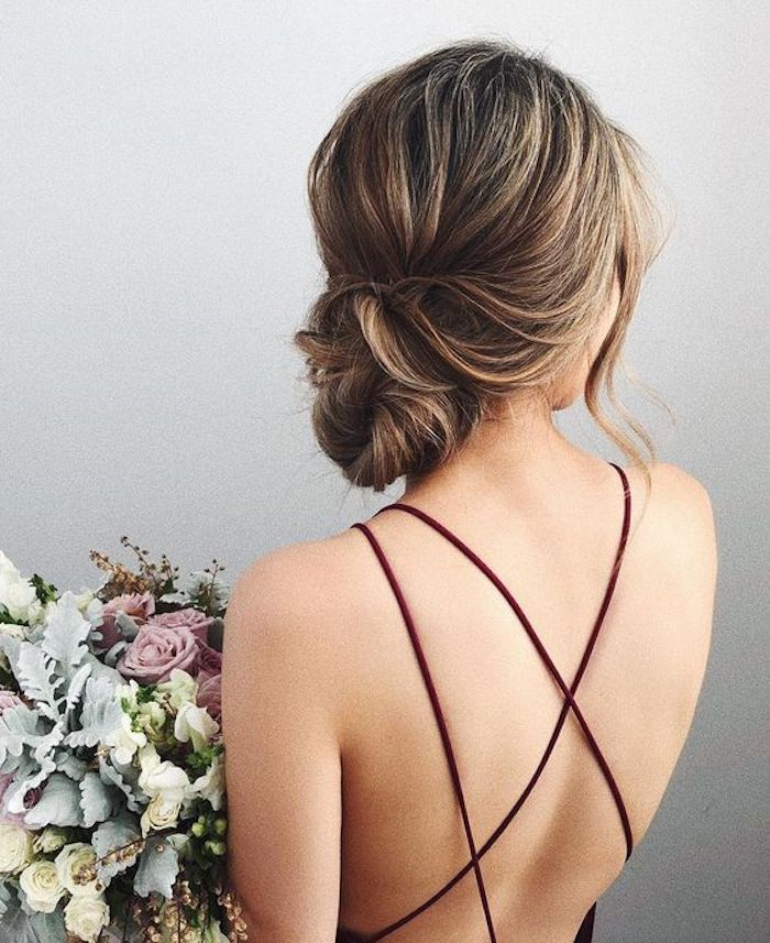 Wedding hair trends 2019_low set effortless updos 2