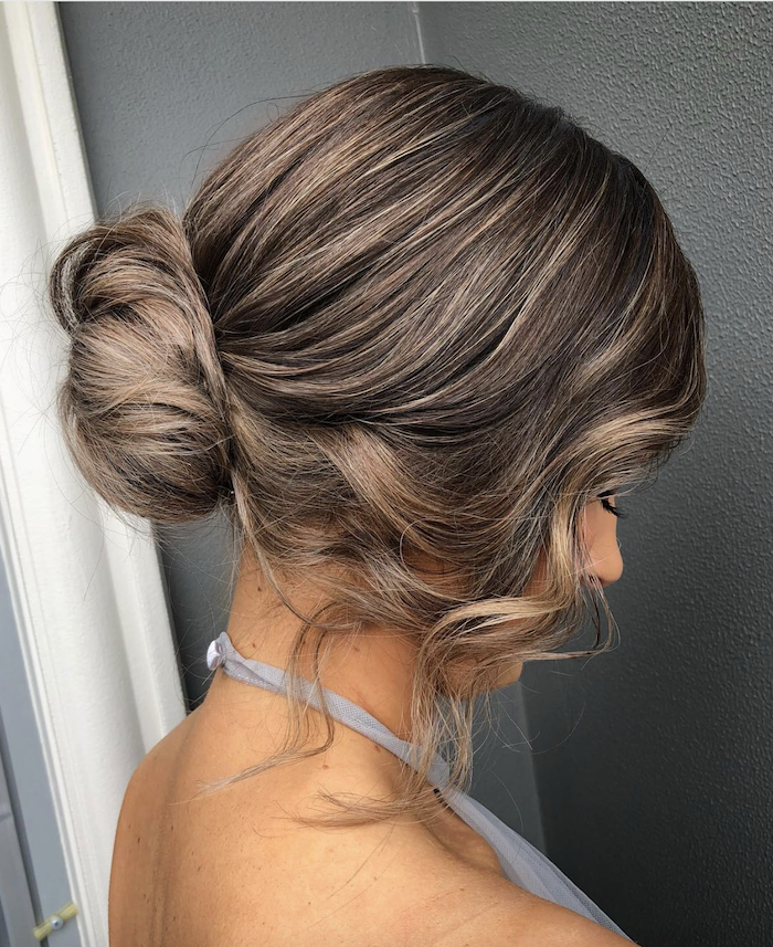 Wedding hair trends 2019_low set effortless updos 5