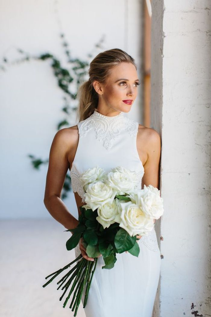 Wedding hair trends for 2019_romantic pony tails 5