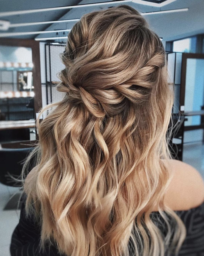 Wedding hair trends for 2019_textured twists 7
