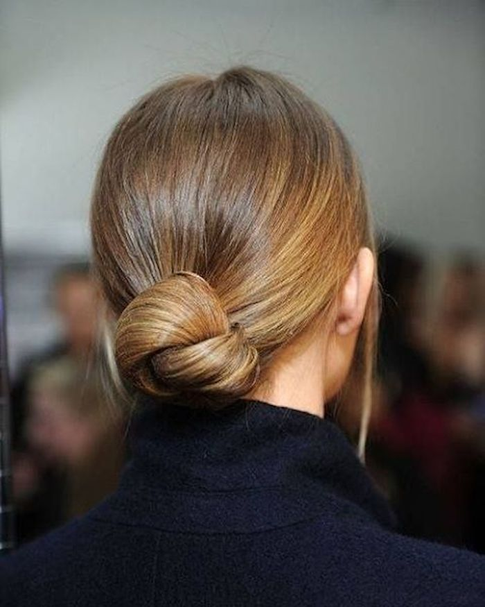 Wedding hair trends_low bun with centre part 7