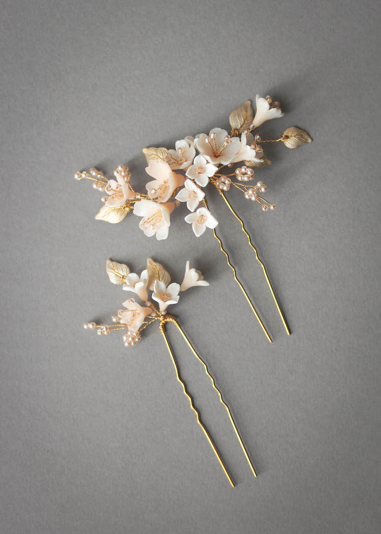 Bespoke for Cameron_Cherry Blossom hair pins for Cameron 1