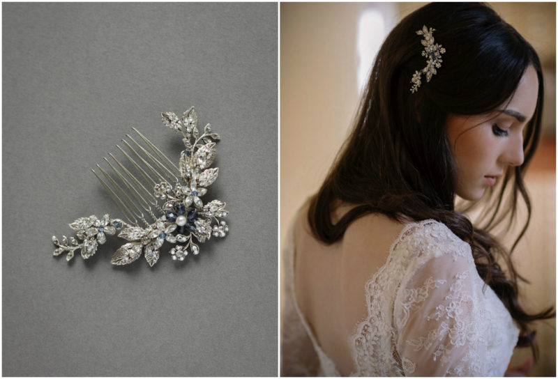ARTEMIS hair comb_for one shoulder wedding dresses