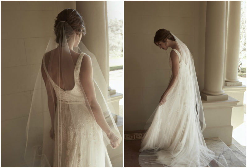 AUDREY veil_for one shoulder wedding dresses