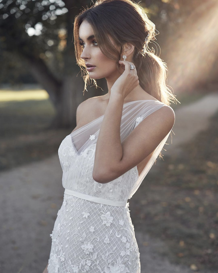 Top 5 Hairstyles For A One Shoulder Wedding Dress Bridal Styling