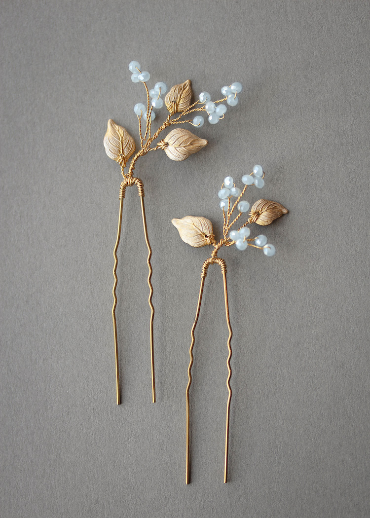 BLUEBELLS | Something blue crystal hair pins