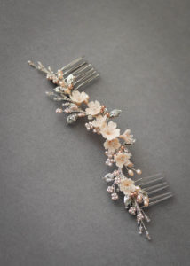 ODE TO DUSK_silver blush floral hair piece 8