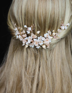 BESPOKE for Tristan_Cherry Blossom floral wedding headpiece and hair pin set 11