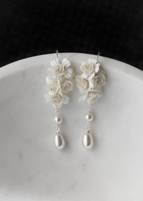 AMARIS pearl bridal earrings 2