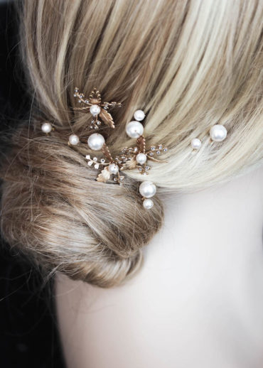 ARDEN pearl bridal hair pins 1