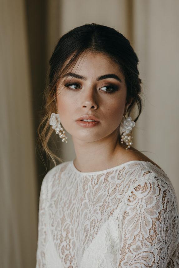 AURORA gold wedding earrings 2