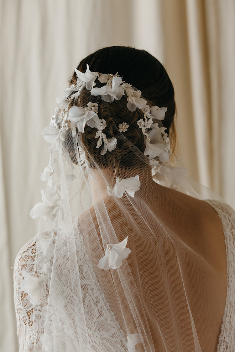 Catalina Floral Wedding Veil Tania Maras Bespoke Wedding