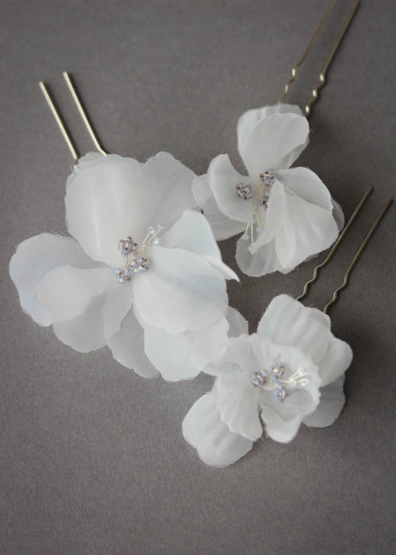 ECHOES floral bridal hair pins 3
