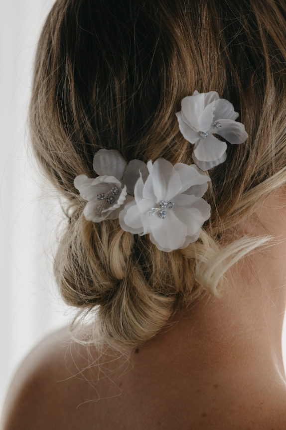 ECHOES floral bridal hair pins 4