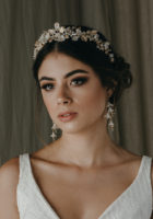 FLORES floral wedding headpiece 1