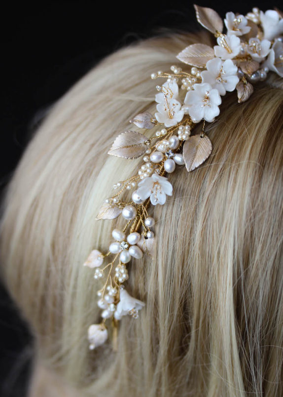 FLORES floral wedding headpiece 13