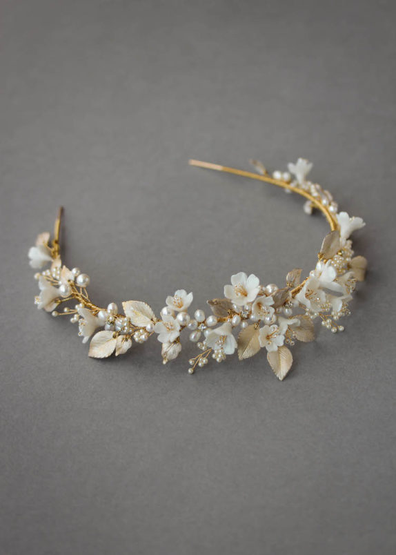 FLORES floral wedding headpiece 15
