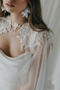 OLIVIER lace wedding cape 12