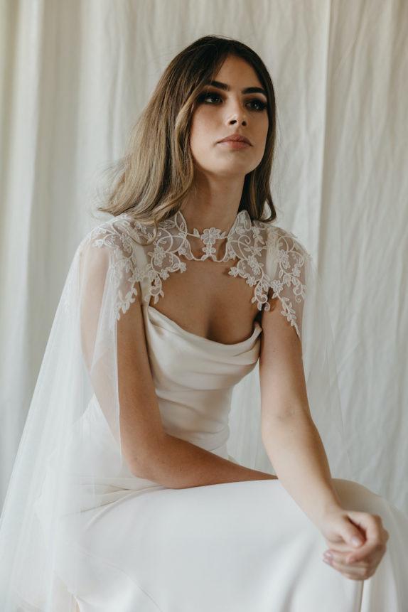 OLIVIER lace wedding cape 2