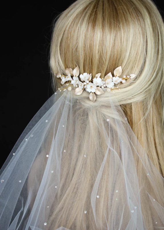 LUCILLE floral bridal headpiece 12
